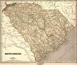 south carolina state 1843 morse breese historic map reprint