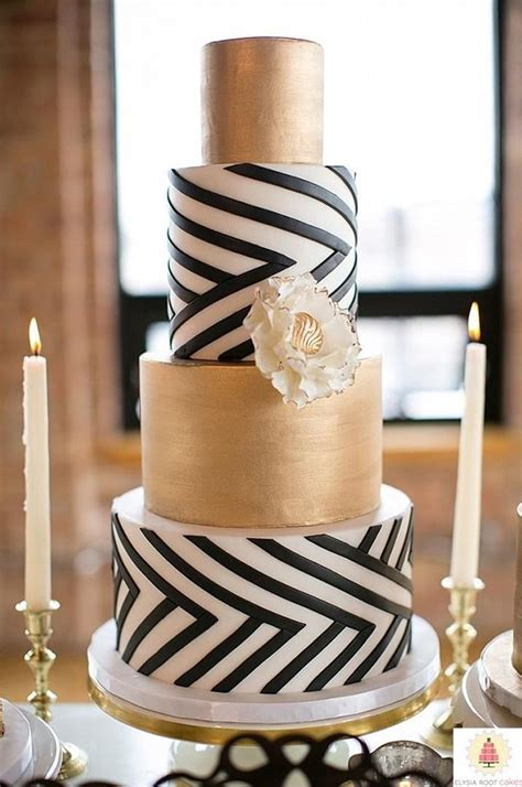 New Years Eve Wedding Reception Decorations Top 22 Glittery Gold Wedding Cakes For 2016 Trends