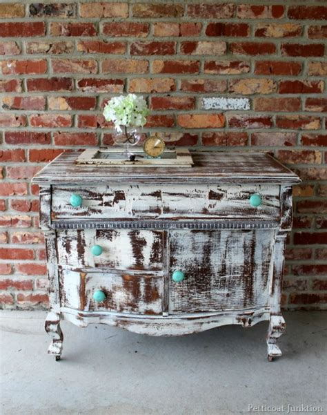How To Paint Furniture To Look Distressed by 10 Heavily Distressed Chippy Furniture Pieces So Much