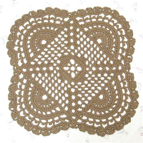 Crochet Jute Rug by Openwork Jute Rug Mandala Pattern From