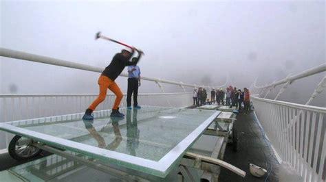 chinas giant glass bridge hit  sledgehammer jewish business newsjewish business news