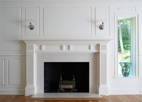 Wainscoting Around Fireplace mantels and fireplace surrounds