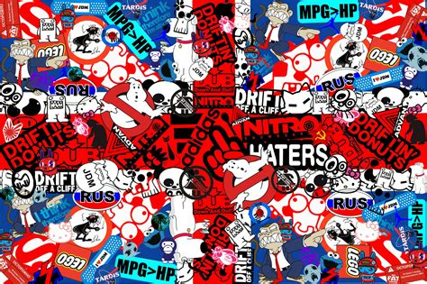 wall paper sticker sticker bomb wallpaper hd wallpapersafari