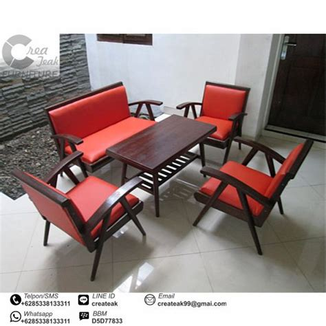 Kursi Tamu Teras Makan Minimalis Santai Jati Jepara set kursi tamu jengki jati createak furniture createak furniture