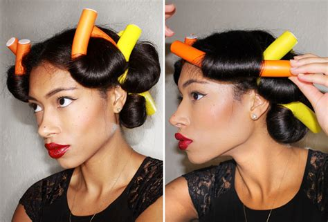 how to roll hair with jumbo flexi rods flexi rods