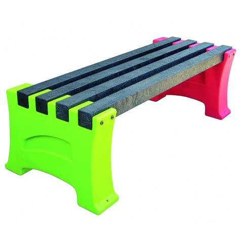 recycled plastic bench buy recycled plastic multicoloured bench tts