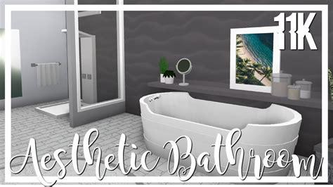 bloxburg aesthetic bathroom youtube