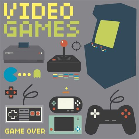 console gaming vintage console collection vector free