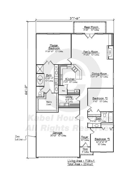 camdon zero lot house plans louisiana house plans