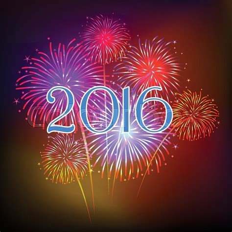 new year fireworks 2016 happy new year fireworks 2016 background design