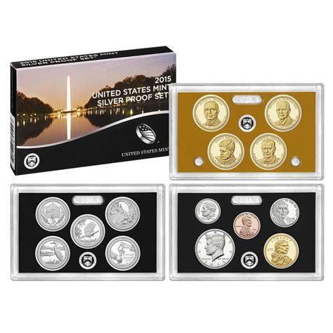 Set Mint 2015 s us mint silver proof set sw2 ebay
