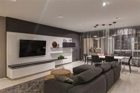 wohnungen gestalten wohnung einrichten in grau modernes apartment als