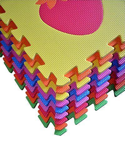 Multi Color Foam Floor Mat by Fruit Puzzles Play Mat 9 Tile Foam Multi Color