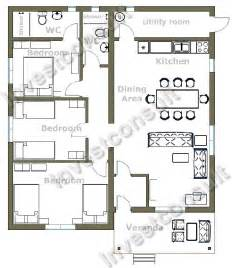 Three Bedroomed House Plan 3 Bedroom House Plans