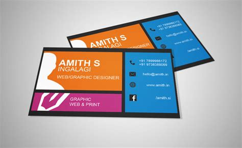 magazine business card template graphic designer visiting card magazine by amith