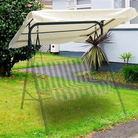 66 x 45 outdoor swing canopy top replacement cover garden