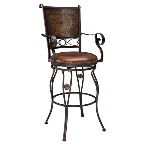 bar stools with back and arms that swivel metal bar stools with backs decofurnish