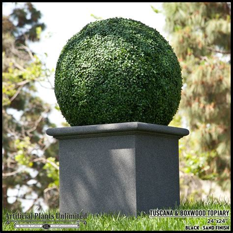 30in artificial boxwood topiary in tuscana planter