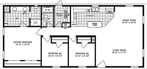 jacobsen mobile home floor plans the imperial imp 2541a manufactured home floor plan jacobsen homes small house plans