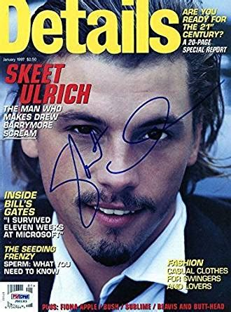 skeet ulrich authentic signed details magazine cover psa dna j00183 at s entertainment skeet ulrich signed details magazine cover j00183 psa dna certified at s entertainment