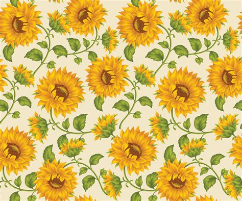 Home Painting Designs by Sunflower Print In Ivory Background By Doncabanza On