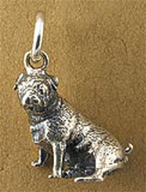 sterling silver pug charm cuddly collectibles collectible pug puppy dogs figurines plush pens and more
