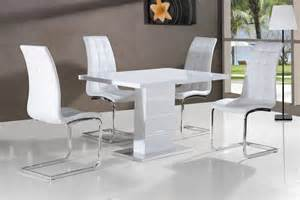 White Dining Room Tables And Chairs White Gloss Dining Table And Chairs Marceladick