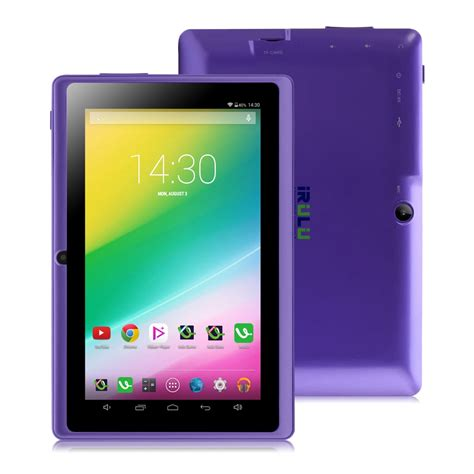 android tablet computer irulu expro 7 quot tablet pc android 4 4 2 real 1024 600 hd 16gb dual 2 0mp support