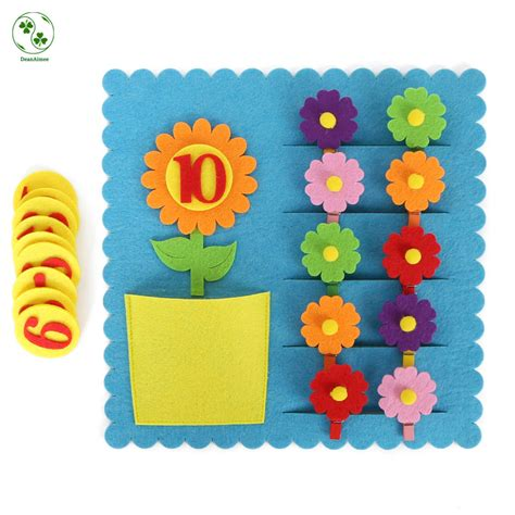 kindergarten felt cloth craft kids learning  numbers   high quality felt cloth digital