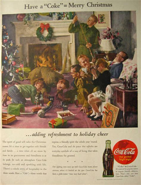 coca cola coke ad soldiers  christmas vintage coca cola ads