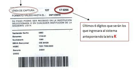 lnea de captura de pago de refrendo linea de captura refrendo estado de mexico pago linea