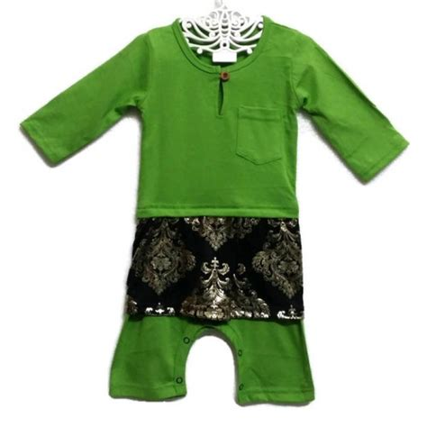 Baju Jumpsuit Baby Jumper Baju Melayu Sing Songket Baby Romper Raya