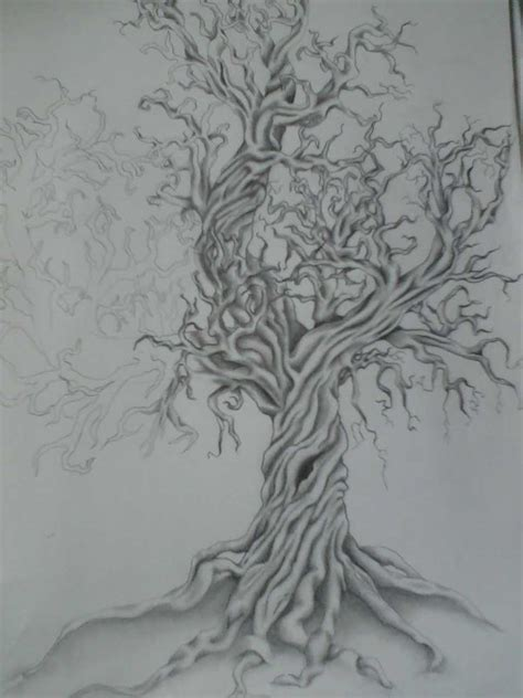 twisted tree tattoo designs something like this as part of my back tattoos
