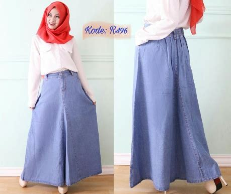 Overall Rok Payung W196 rok payung klasik r496 baju style ootd