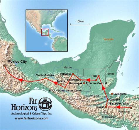 mayan ruins map capital cities of the ancient honduras guatemala