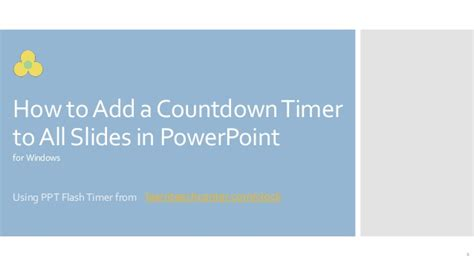 How To Add Countdown Timer On All Slides In Powerpoint Countdown Timer For Ppt