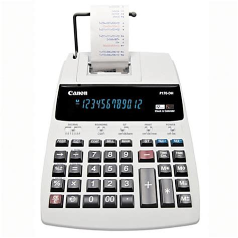 Office Depot Calculators by Canon P170 Dh Printing Calculator By Office Depot Officemax