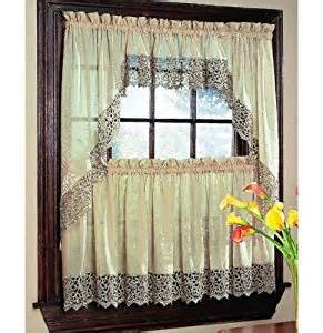 Peri Homeworks Collection Curtains Peri Quot Bali Quot 50x36 Quot Tier Panel In Antique Home Kitchen