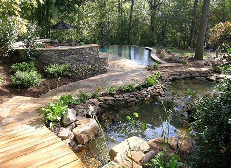 natural backyard landscaping backyard landscaping ideas natural pools shaping an