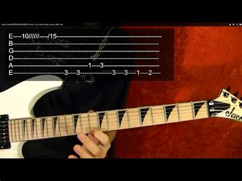 tutorial impossible guitar tutorial mission impossible fingerstyle guitar w tab