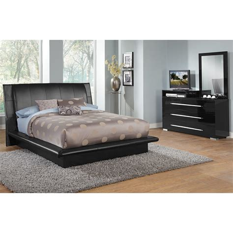 dimora black 5 pc bedroom value city furniture
