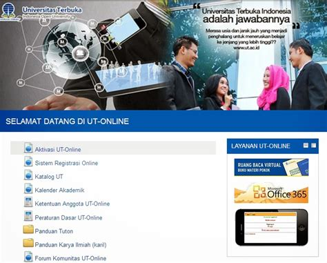 aktivasi tutorial online ut menu aktivasi tutorial online tuton universitas