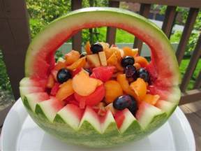 vegetarian and cooking watermelon basket