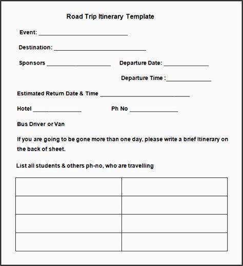 road trip planner template 8 cing trip planner template in excel