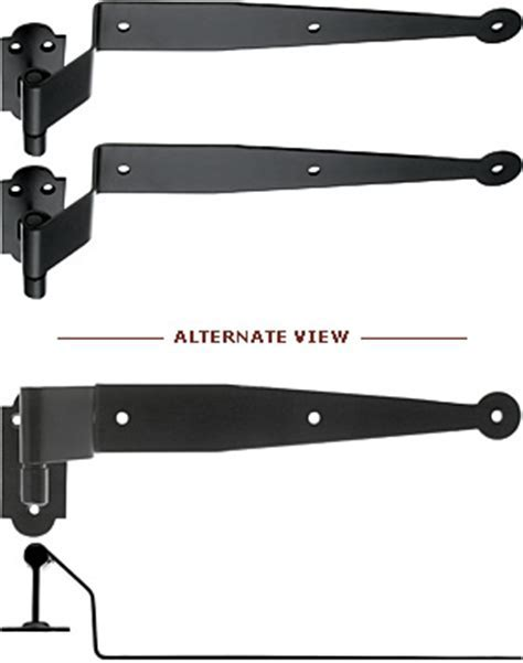 Pair of Traditional Inset Shutter Strap Hinges With