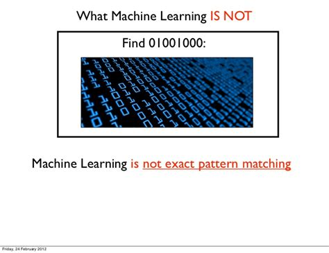 pattern matching machine learning introduction to machine learning