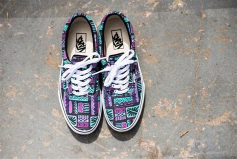 tribal pattern vans shoes vans tribal pattern classic light blue purple