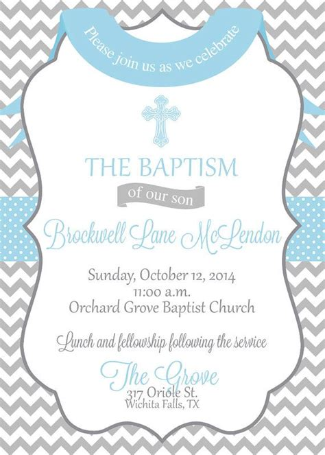 dedication invitation template baby boy baptism christening dedication invitation or