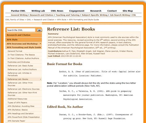 Purdue Owl Apa Format Template by Citing Research Papers Using The Purdue Owl Resources