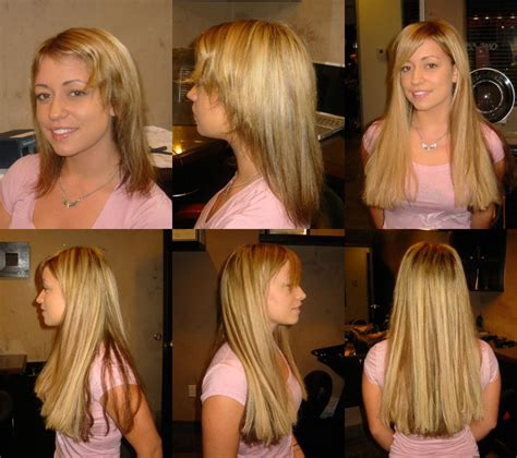 before after hair extensions hair extensions toronto beaded clip in extensions